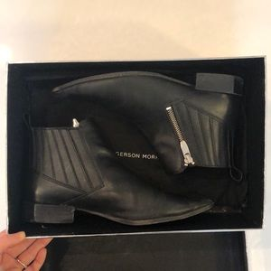 Sigerson Morrison Black Pointed Toe Boots